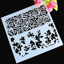 AU Stock Flora Lace Edge Layering Stencil Template DIY Home Coffee Spray Flower