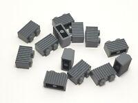 *NEW* Lego Dark Grey Door Frame Light Grey Bar Grille Door Modular House x 1