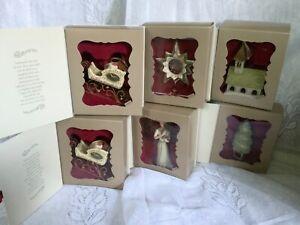 6 HALLMARK KEEPSAKE Yuletide Harmony Collection CHRISTMAS ORNAMENTS