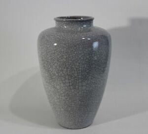 Karlsruhe Majolika große Vase Craquele Dekor H: 36,5cm Design 50er 60er Krakelee