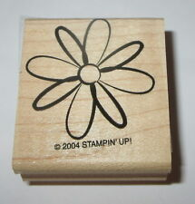 Flower Rubber Stamp Petals Daisy Stampin' Up! Retired Design Wood Mounted