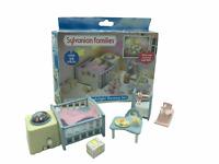 Calico Critters Sylvanian Families Nightlight Nursery Set Blue Crib Lighted
