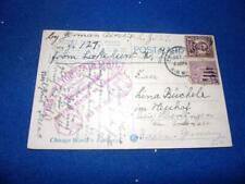 GRAF ZEPPELIN 1928 FIRST FLIGHT POSTCARD TO GERMANY
