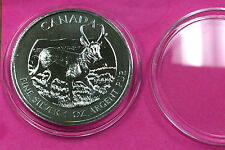 {BJStamps}  2013  $5 Canada Wildlife Pronghorn Antelope 1 Oz Silver BU in cap