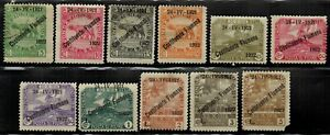 Fiume #161-171 Complete Set 1922 Mint No Gum/Used(161,163)
