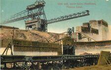 c1910 Chromograph Postcard West Wall upper locks Miraflores Panama Canal Unpostd