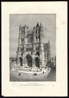 Antique Print-FRANCE-AMIENS-CATHEDRAL-VIEW-Reclus-1881