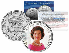 Jackie O JFK Kennedy Half Dollar Coin wearing her Legendary Pearl Necklace photo