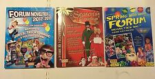 3 FORUM NOVELTIES PRODUCT CATALOGS 2012-2013 GAGS MAGIC COSTUMES CHRISTMAS LUAU