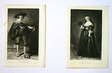 Eau forte de Flameng d'après Rembrandt, M et Mme Day
