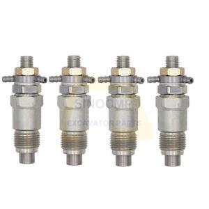 4PCS Fuel Injectors 3974254 for Bobcat 743 643 645 225 Kubota V1702 D1402 V1902