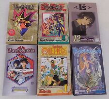 Lot Of 6 - Shonen Jump Manga Softcovers - Yu Gi Oh - Ral Grad - I''s - One Piece