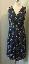 NEW with tags M&S Print Sleeveless Skater Dress Size 18 Summer Holiday Work