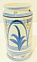 """JAMESTOWN POTTERY Vintage Apothecary Salt Glaze Vase ~ Large 8 1/2"""" Tall"""