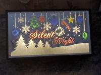 "Silent Night Christmas Sign Lighted Battery Light Nite Lite Mantle 8.5"" X 5"""