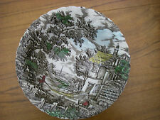 "MYOTT The Hunter 8.5"" Full Colour Serving Dish Bowl Hand Engraved Collectable EC"