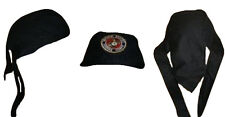 Black USMC Marines Marine Corps Do Rag Doo Rag Skull Cap Head Wrap