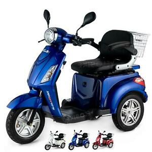 Electric Mobility Scooter Three Wheel 900W VELECO ZT15 WHITE RED BLUE