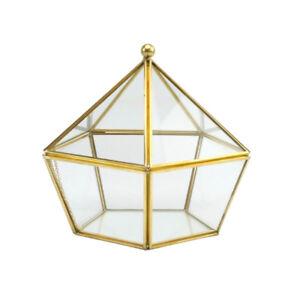 Irregular Glass Geometric Terrarium Box Succulent Plant Planter Art Box #2