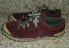 Ladies Keen Maroon Suede Lace Up Shoes Size 9