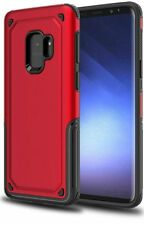 Galaxy S9 Case Slim Dual Layer Protective Phone Cover Hyperion Titan Series RED