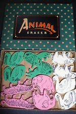 48 Wundervolle TIER Radiergummis - Vintage Ladenauslage Verpackung
