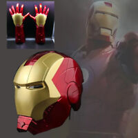 Marvel Legends Avengers Iron Man 1: 1 Cosplay Helmet Armor Glowing Arm Sets Gift