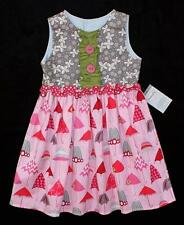 Persnickety MAGGIE Umbrella Ruffle Button Dress Boutique Girls ~ Size 5 NWT tj