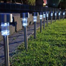 10x ad energia solare led luci da giardino palo Patio Esterno BRANDEGGIO STEEL