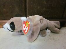 """ESTATES SALE TY BEANIE BABIES """"RINGO"""" the Racoon    July 14th 1995,3-5,Animal ~"""