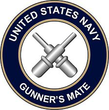 "Navy Gunners Mate Gm 5.5"" Die Cut Sticker 'Officially Licensed'"