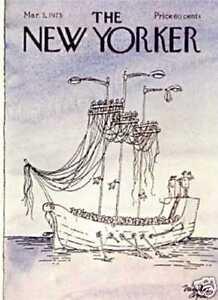 New Yorker COVER - 03/03/1975 - Phone Ship - ASCIU