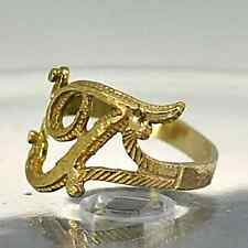 New Gold plated Silver letter Initial T ring jewelry