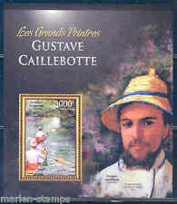 CENTRAL AFRICA 2012 GUSTAVE CAILLEBOTTE  SOUVENIR SHEET MINT NH