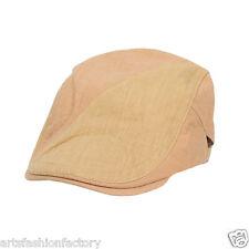 Men Golfing Beret Ivy Ascot Cabbie Cap Khaki Newsboy Cap Hat