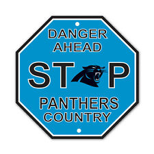 """New Carolina Panthers Country Danger Ahead STOP Sign 12""""X12"""" Octagon Made in USA"""
