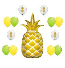 13 new BALLOONS party PINEAPPLE luau HAWAII welcome TROPICAL favors DECOR fruit