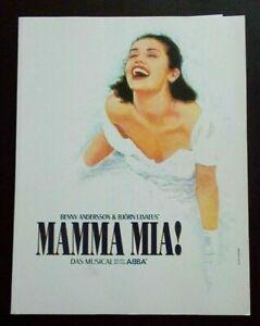 Mamma Mia! Souvenir Brochure photo programme Germany & cast list 19/02/2006