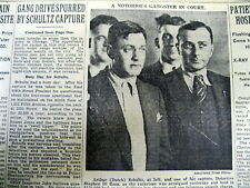 1931 NY Times newspaper Gangster DUTCH SCHULTZ captured by police - w photograph