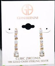 Giani Bernini 18k Gold over Sterling CZ Linear Drop Earrings NWT $95