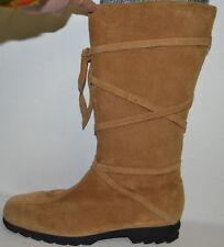 b5b40ded580573 SALAMANDER Damen Echt--Wild-Leder Stiefel beige 39 mit Reißverschluss
