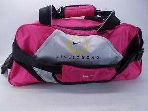 Pink Nike Livestrong Gym Sack Sport Athletic Carrying Shoulder Duffel Bag Pink