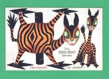 RARE VINTAGE TUCK ZOO-ZOO SERIES NOVELTY CUT-OUT ART POSTCARD THE JAZZAH
