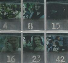 """Lost Season 1 - """"Numbers Die Cut"""" 6 Card Chase Set"""