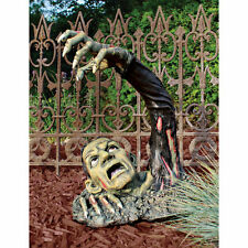 Halloween Outbreak Of The Undead Flesh Hungry Zombie Graveyard Ghoul Statue
