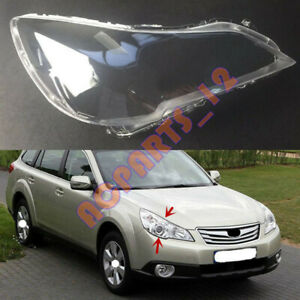 For Subaru Outback 2010-2014 Right Side Headlight  Clean Cover PC +Glue Replace