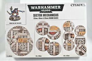 GW Citadel Warhammer 40k - Sector Mechanicus Round Bases