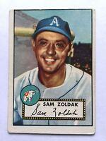 1952 Topps Baseball Card #231 Sam Zoldak Philadelphia Athletics VG No Creases