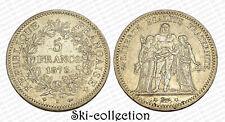 5 Francs 1873 K (Bordeaux) Hercule. France. Argent