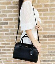 Kate Spade перфорированным средний вещевой мешок топ на молнии сумка через плечо, черная кожа